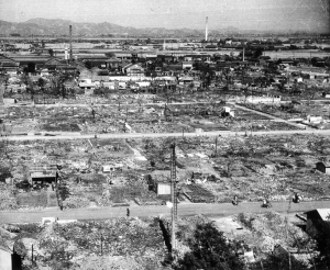 An area of Sako that partially survived the bombing (3 & 4-chome)