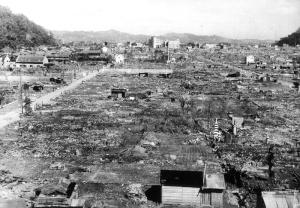 The ruins of Nishi-Tomida-cho.