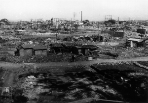 The gas tank and ice house were all that remained in Dekijima.