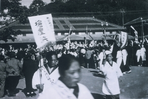 Waving off the troops at Tokushima Station.
